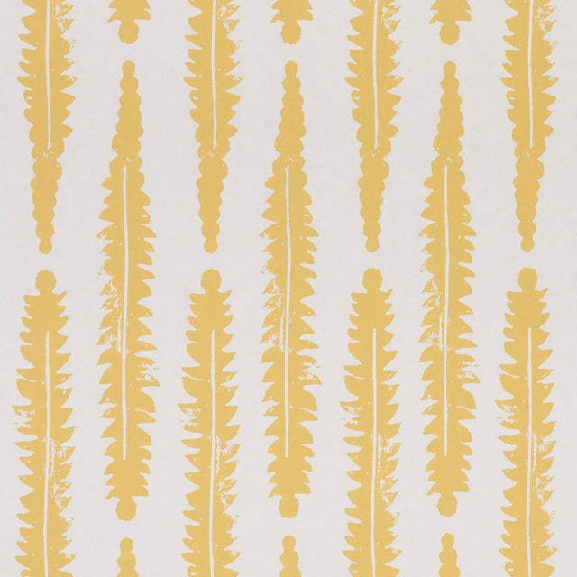 2020s Sample - Schumacher x Molly Mahon Fern Wallpaper in Mustard For Sale - Image 5 of 5