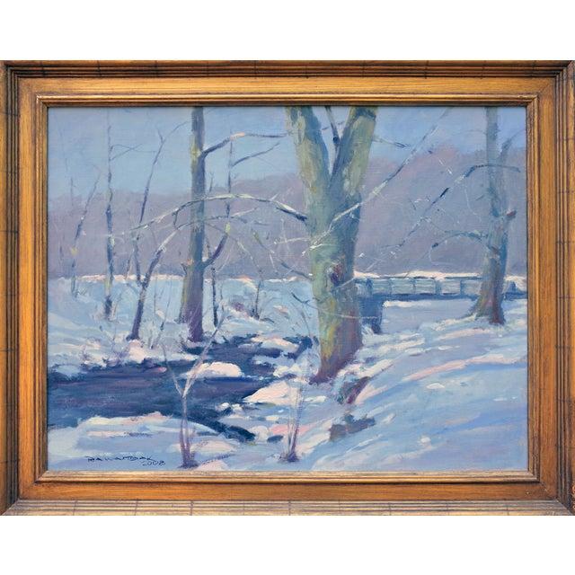 Bob Waltsak Winter Landscape Oil Painting - Image 2 of 4