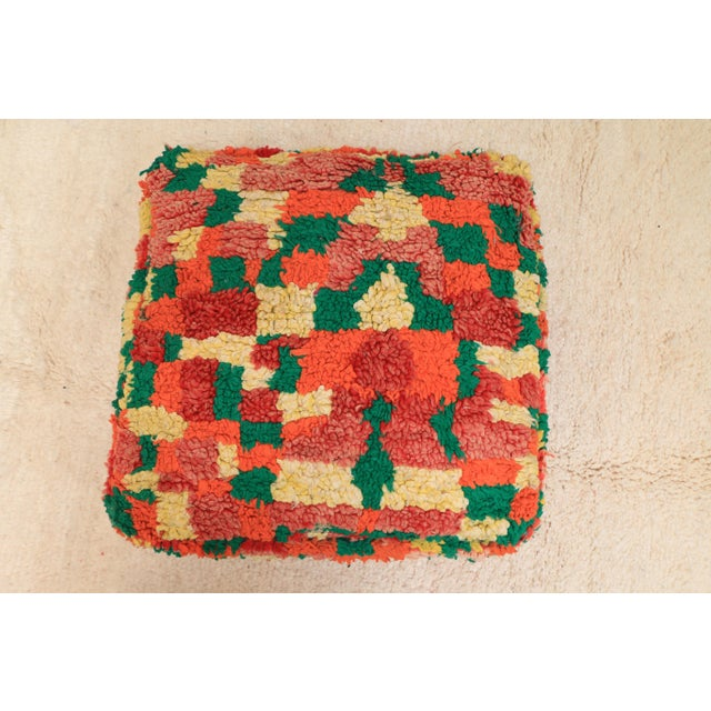 Moroccan Moroccan Colorful Unstuffed Pouf Cover For Sale - Image 3 of 11