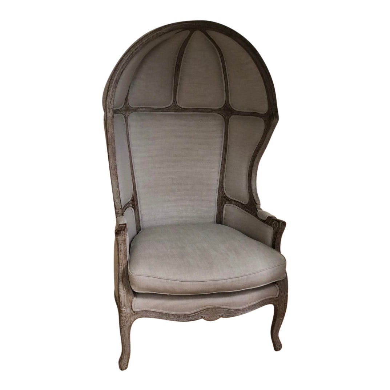 Modern 18th century louis xv style balloon chair chairish