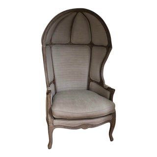 Modern 18th-Century Louis XV Style Balloon Chair For Sale