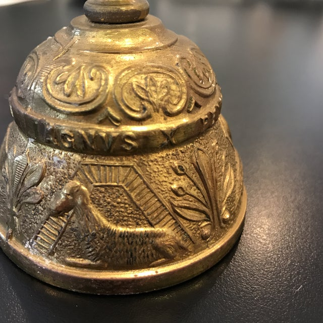 Vintage Brass Bell With Carved Animals - Image 5 of 8