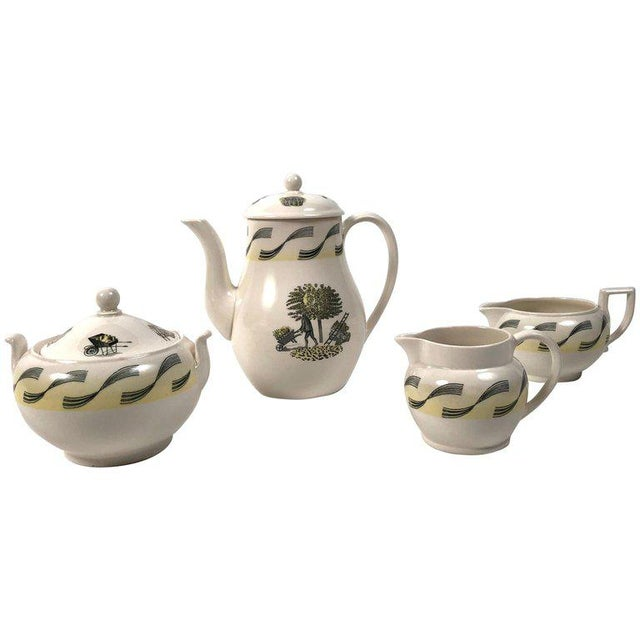 Eric Ravilious Garden Series Coffee Service for Wedgwood - 4 Pc. Set For Sale - Image 13 of 13