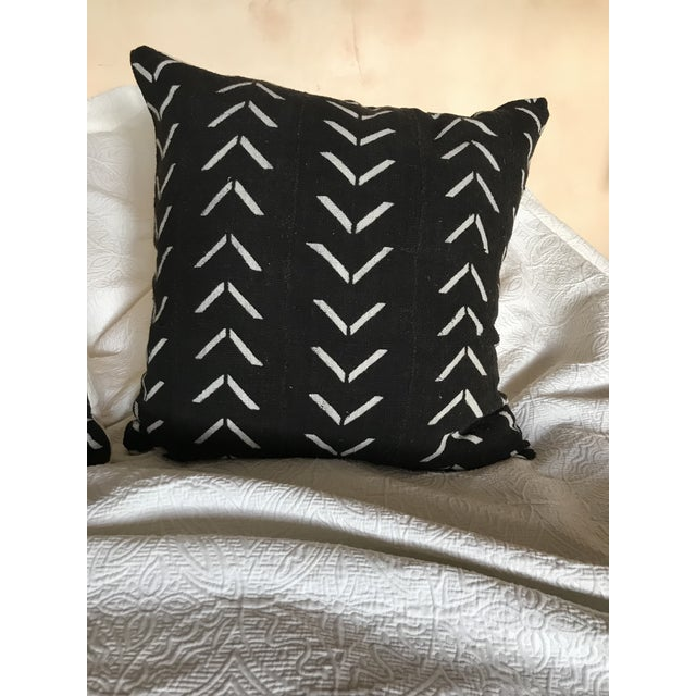 These large euro size pillows are made from handwoven and hand dyed African mud cloth fabric . The pillows are American...