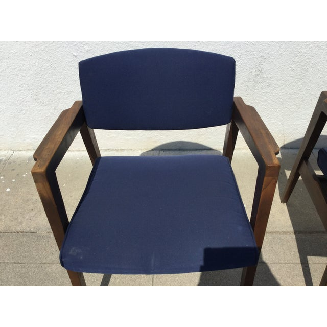 Vintage Navy Modern Chairs - Set of 4 - Image 9 of 11