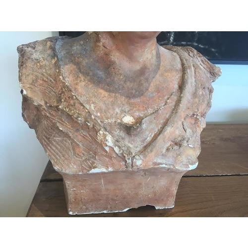 Terra Cotta Bust, Early 20th Century For Sale - Image 9 of 10