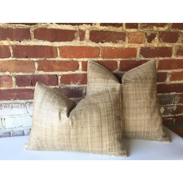 Handwoven Raw Silk Pillow Cover - Image 3 of 5