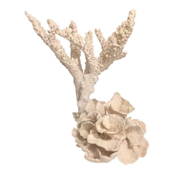 Bold Cast Plaster Coral Specimen - a Pair For Sale