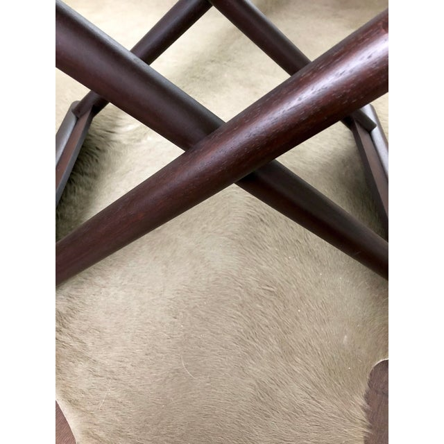 Brown Christian Liaigre Bazane Stool for Holly Hunt (30 Available) For Sale - Image 8 of 12