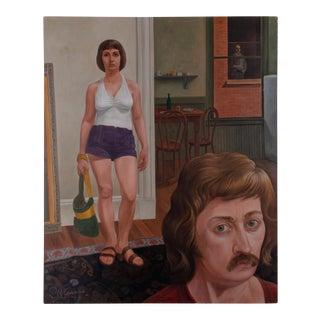 Raymond D. Crane Modern Painting, 1973 For Sale