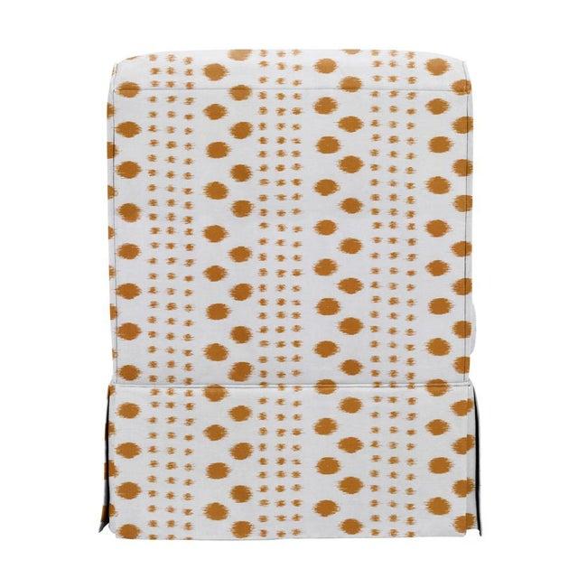 Traditional Virginia Kraft for Casa Cosima Slipper Chair, Polkat, Caramel For Sale - Image 3 of 5