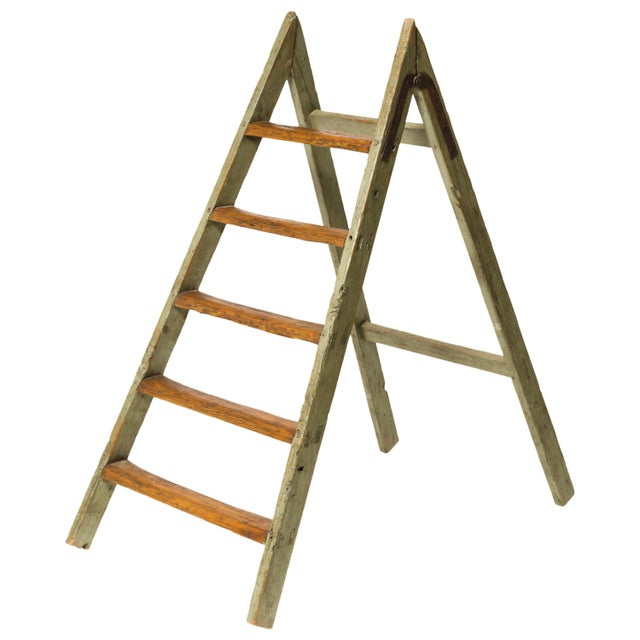 Antique Style Ladder For Sale - Image 4 of 4