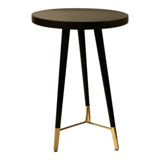 Currey & Co. Black and Gold Collin Accent Table For Sale