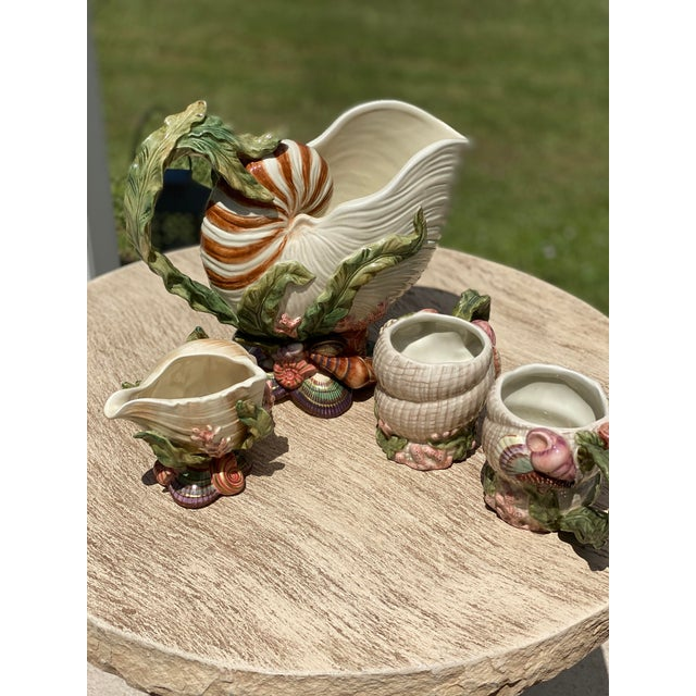 Fitz and Floyd Oceana Cups and Pitchers - Set of 4 For Sale - Image 11 of 12