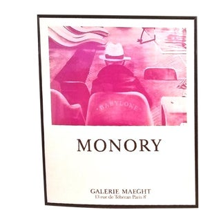 Monory - Babylone Framed Print, Galerie Maeght in Paris, Rare For Sale