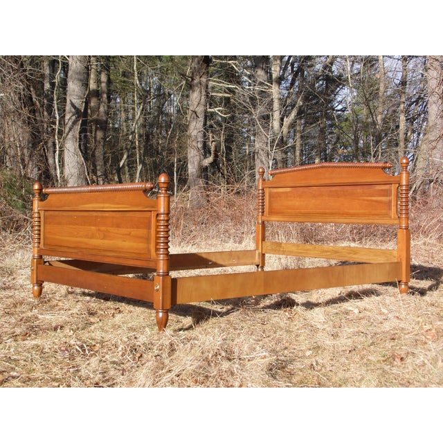 Antique Solid Cherry Spindle Full Size Double Jenny Lind Spool Bed