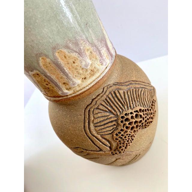 Vintage Handmade Ceramic Vase For Sale - Image 10 of 13