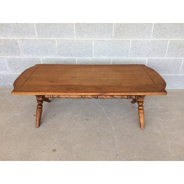 Cushman Colonial Furniture Coffee Table, Very Good Vintage Furniture Condition, High Quality Craftsmanship, Solid...