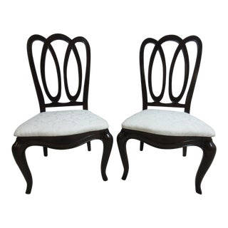 Pennsylvania House New Standards Ribbon Pretzel Back Dining Chairs - a Pair