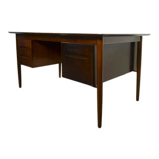 Danish Modern Ib Kofod Larsen for Selig Walnut Desk For Sale