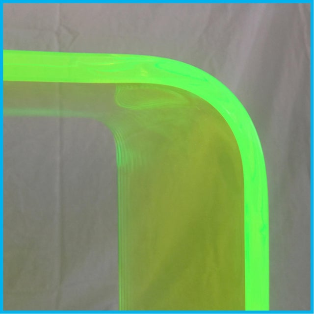 """Not Yet Made - Made To Order """"The Side Piece"""" Side Table in Neon Green For Sale - Image 5 of 7"""