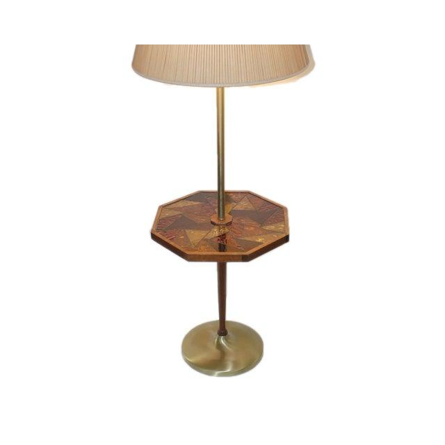 Mid-Century Georges Briard Mosaic Floor Lamp Table - Image 10 of 10