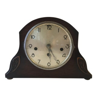 Antique German Walnut Mantle Clock