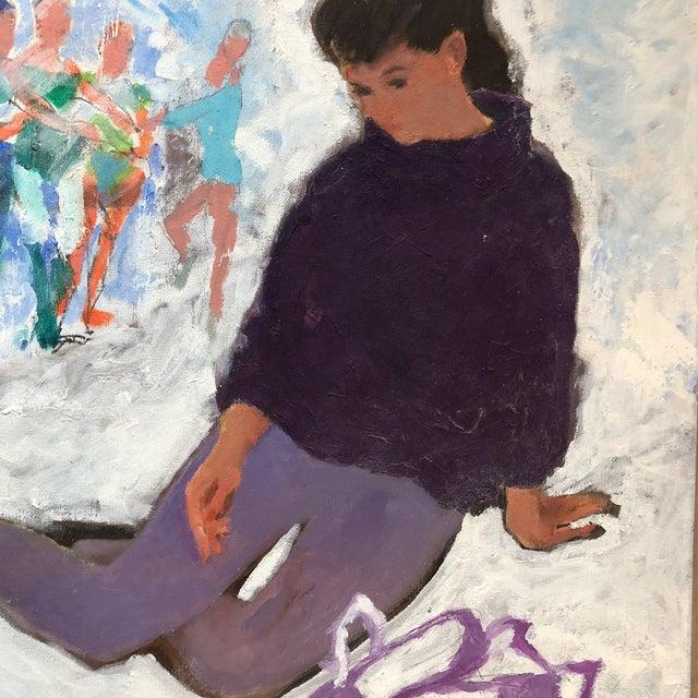 Expressionism Vintage Original Modernist Dancer Painting For Sale - Image 3 of 7