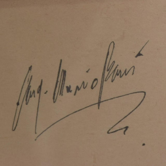 Art Architectural Sketch by Mario Pani and Jesus Garcia Collantes 1947 For Sale In San Diego - Image 6 of 11