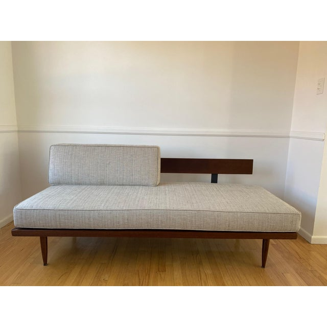 Mid-Century Gray Sofa For Sale - Image 4 of 13