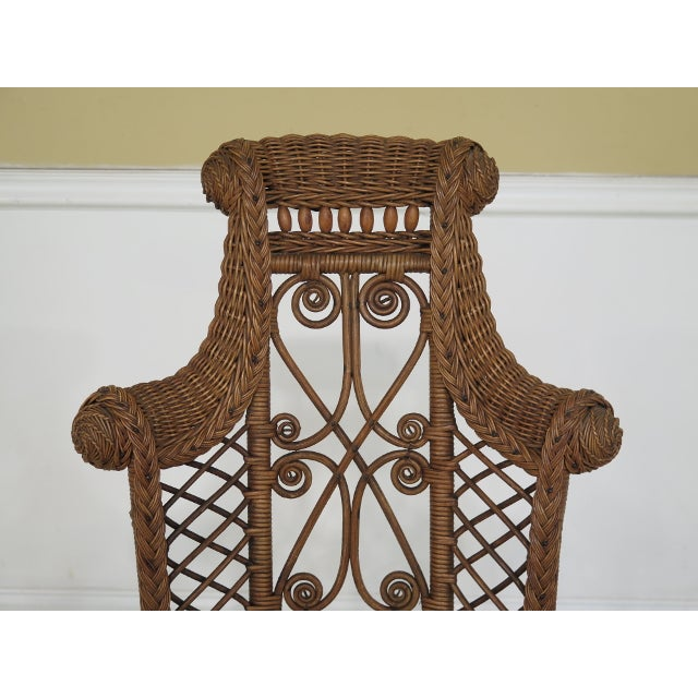 This Heywood Wakefield wicker high back chair is from around 1890's.  Includes High Quality Construction - 1890's Antique Heywood Wakefield Wicker High Back Chair Chairish