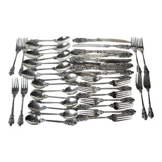 F.B. Rogers Grand Baroque Flatware Service for 8 - Set of 40 For Sale