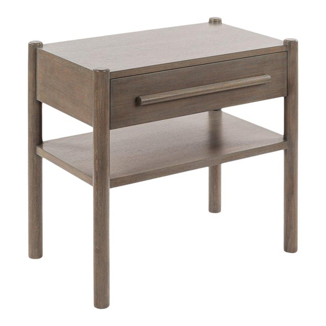 Lombardy Nightstand - Large in Gray For Sale