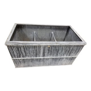 The Branch Studio Hudson Box Outdoor Zinc Planter For Sale