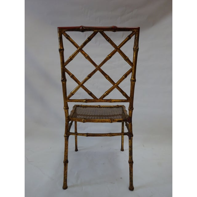 Italian Faux Bamboo Gold Dining Chairs - S/4 - Image 8 of 8