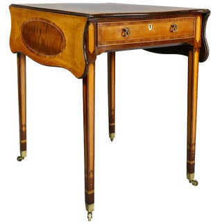Fine George III Satinwood and Mahogany Pembroke Table For Sale