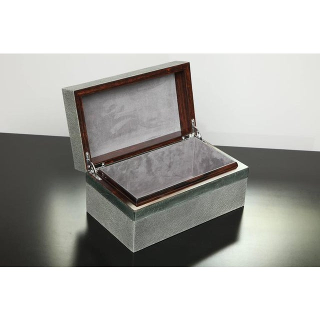 Custom shagreen treasure box with parchment trim.