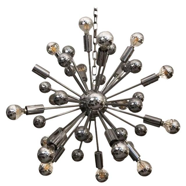 Mid-Century Chrome Sputnik Chandelier For Sale