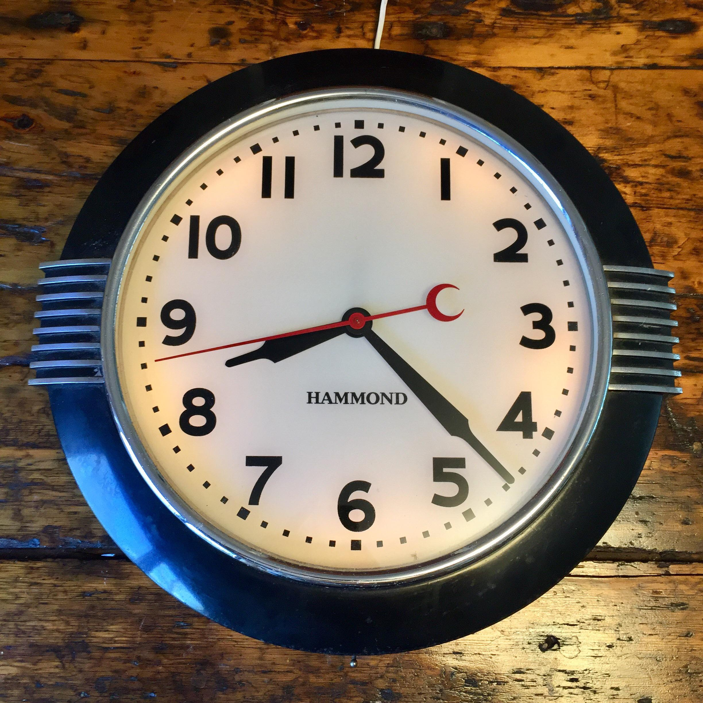 1930s Hammond Art Deco Wall Clock   Image 10 Of 10