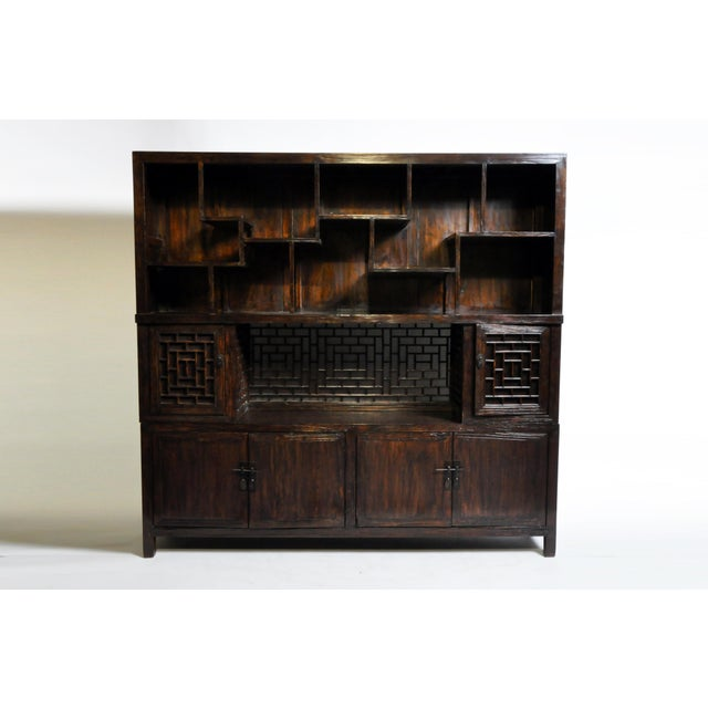 Chinese Lattice Display Cabinet For Sale - Image 13 of 13