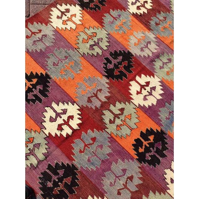 Purple Vintage Turkish Kilim Rug For Sale - Image 8 of 10