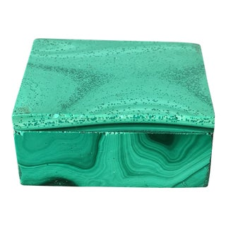 Malachite Trinket Box For Sale