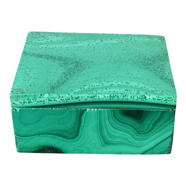 Malachite Trinket Box For Sale