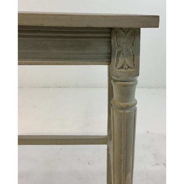 Currey & Company Currey & Co. French Country Style Lysanne Gray Wood End Table For Sale - Image 4 of 7