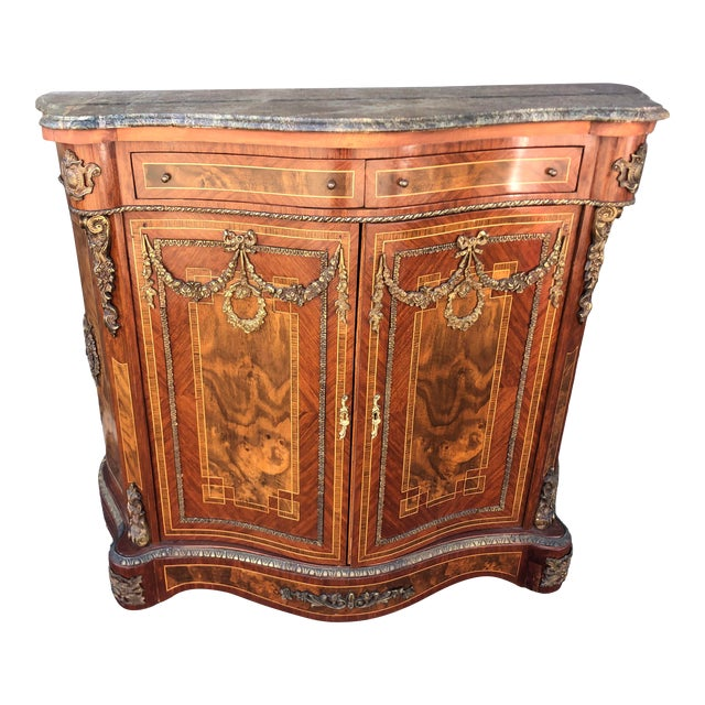 Early French Louis XV Commode Cabinet For Sale