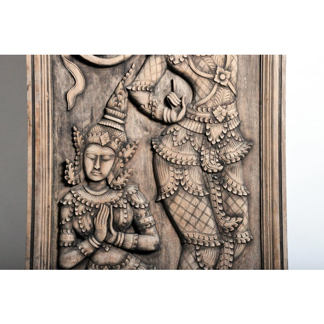 2010s Southeast Asian Wood Carving of a Goddess For Sale - Image 5 of 13