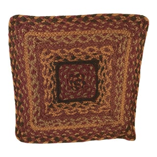 20th Century Boho Chic Jute Fiber Table Mat For Sale
