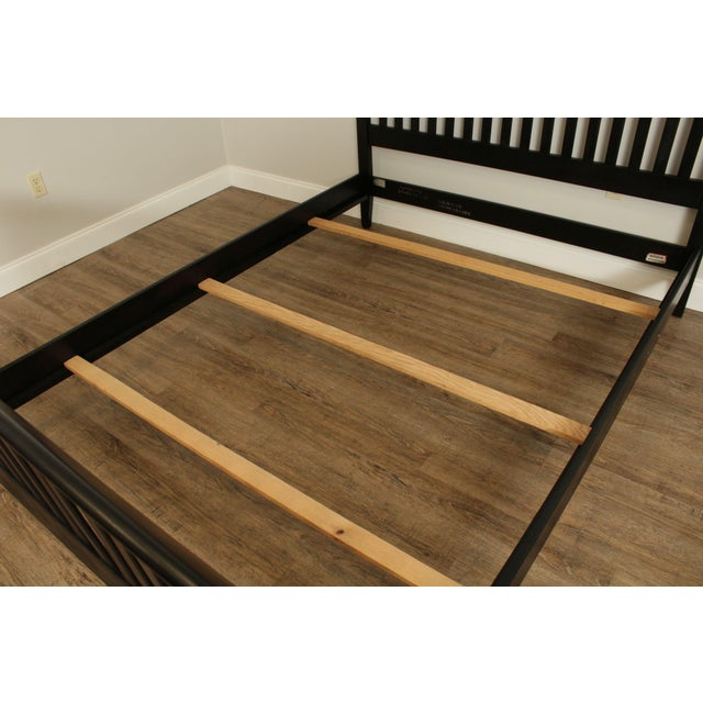 Wood Ethan Allen American Impressions Queen Size Black Sleigh Bed For Sale - Image 7 of 13