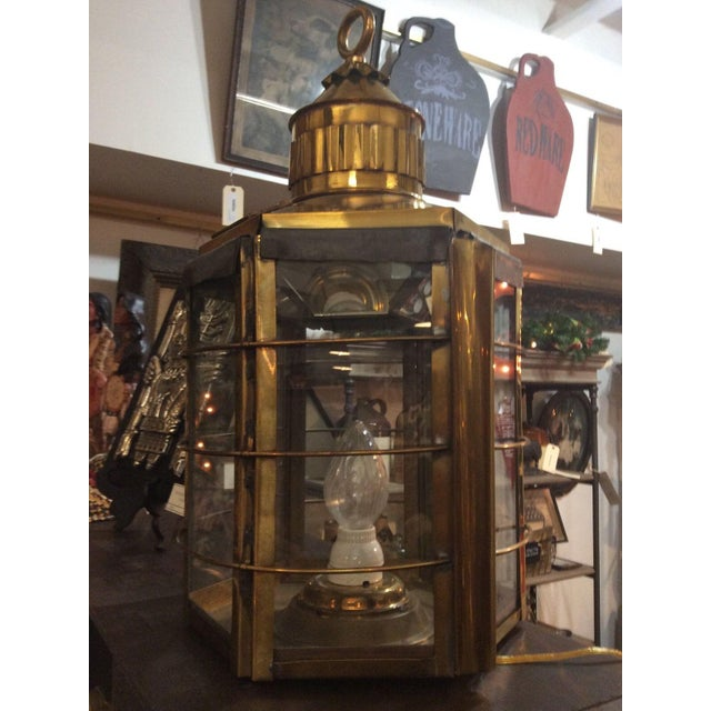 Antique Clipper Ship Lamp For Sale - Image 6 of 6