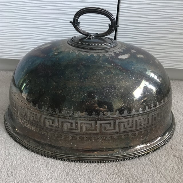 Antique Sterling Silver Serving Dome - Image 5 of 8